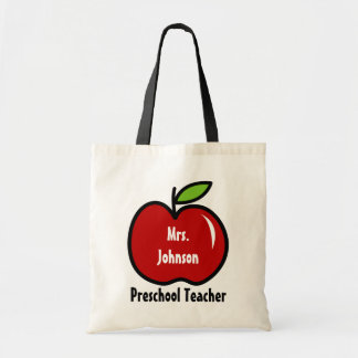 就学前の先生のトートバック|は赤いりんごを個人化します トートバッグ