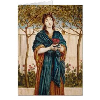 尼僧の提供のケシ-メッセージカード カード