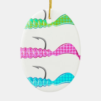 尾をねじる柔らかいプラスチック明るいジグの魚釣りの魅惑 セラミックオーナメント