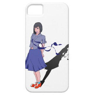 尾行される学校の女の子 iPhone SE/5/5s ケース