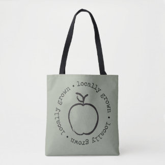 局部的に育てられたりんごのトートバック トートバッグ