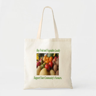 局部的に買物はあなたのコミュニティの農家の戦闘状況表示板を支えます トートバッグ