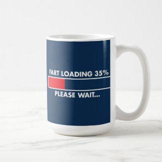 屁のローディングのマグ コーヒーマグカップ