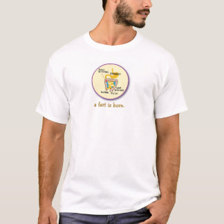 屁は生まれます Tシャツ