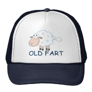 屁をする漫画のヒツジの古い屁の帽子 メッシュハット