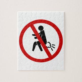 屁をする⚠のおもしろいなタイの洗面所の印の⚠無し ジグソーパズル