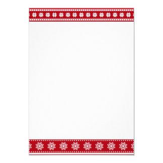 居心地のよいクリスマスの休日の北欧パターン カード
