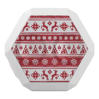 居心地のよいクリスマスの休日の北欧パターン ホワイトBluetoothスピーカー