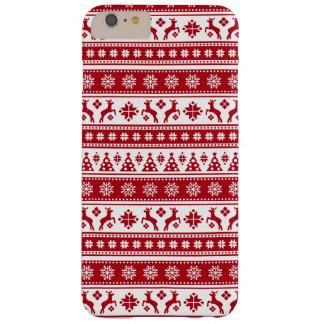 居心地のよいクリスマスの休日の北欧パターン BARELY THERE iPhone 6 PLUS ケース
