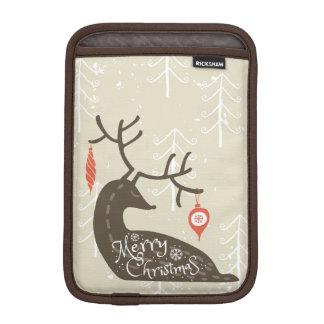 居心地のよいメリークリスマスのトナカイ iPad MINIスリーブ
