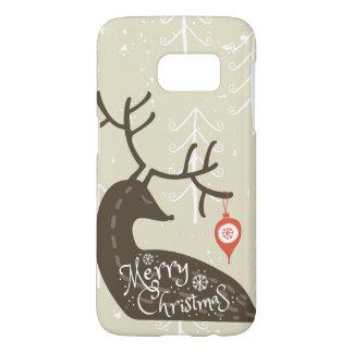 居心地のよいメリークリスマスのトナカイ SAMSUNG GALAXY S7 ケース