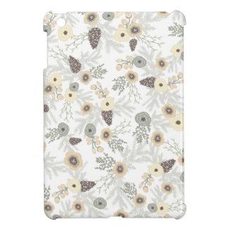 居心地のよい冬の花柄パターン iPad MINIケース