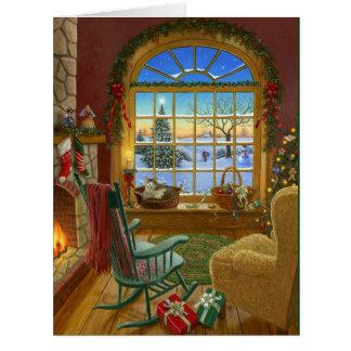 居心地のよい猫のクリスマス ビッググリーティーングカード