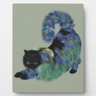 居心地のよく黒い庭の子猫 フォトプラーク