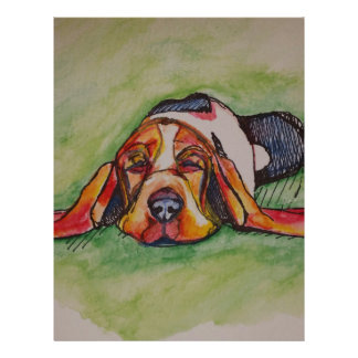 居眠りのバセットの猟犬 レターヘッド