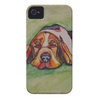 居眠りのバセットの猟犬 Case-Mate iPhone 4 ケース