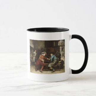 居酒屋で話している2人 マグカップ