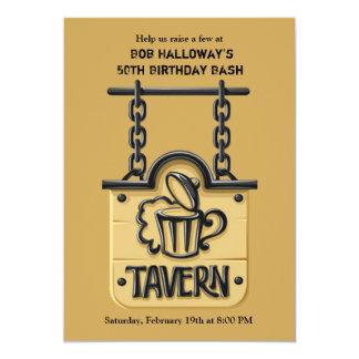 居酒屋の印の招待状 カード