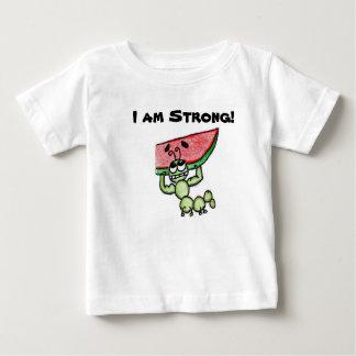 屈強な幼虫の感動的なTシャツ ベビーTシャツ