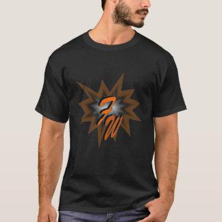 屈曲の衣服の英雄のオレンジ Tシャツ