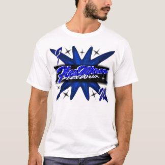屈曲の青のスポットライト Tシャツ