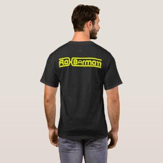 屈曲のBormarrの黄色文字のロゴ Tシャツ