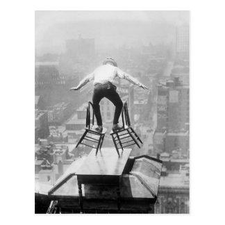 屋上のウクライナのバランスをとる行為1910年 ポストカード