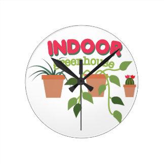 屋内温室 ラウンド壁時計
