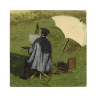 屋外で絵を描く欲求Dubois c.1852 ウッドコースター