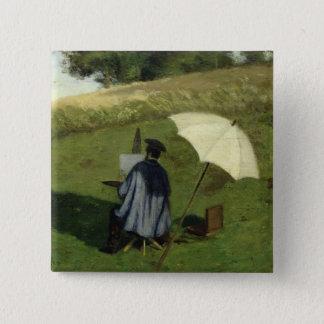屋外で絵を描く欲求Dubois c.1852 5.1cm 正方形バッジ