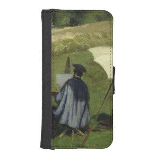 屋外で絵を描く欲求Dubois c.1852 iPhoneSE/5/5sウォレットケース
