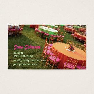 屋外のパーティーのテーブル 名刺