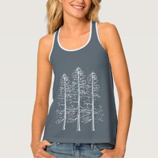 屋外の刺激を受けたな松の木のキャンプのタンクトップのワイシャツ タンクトップ