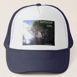 屋外の女の子-自由 キャップ