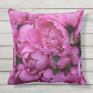 屋外の安全なピンクのシャクヤクの花の花柄パターン アウトドアクッション