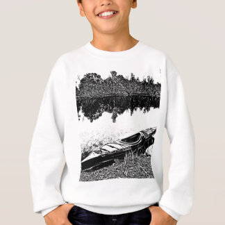 屋外の平静-カヤックの調査 スウェットシャツ