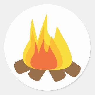屋外の火 ラウンドシール