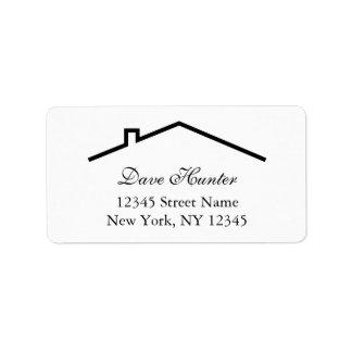 屋根のロゴのカスタムな住所シール 宛名ラベル