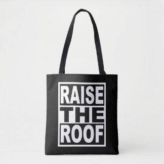 屋根を上げて下さい トートバッグ