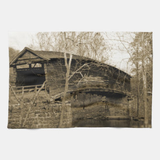 屋根付橋 キッチンタオル