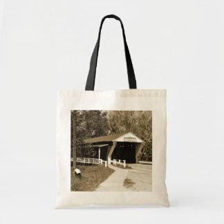 屋根付橋 トートバッグ