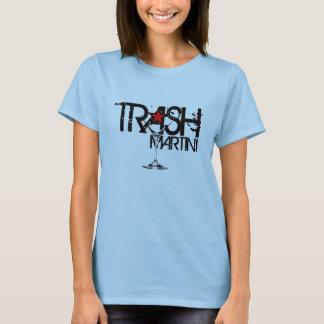 屑のマルティーニの女性黒いロゴ Tシャツ