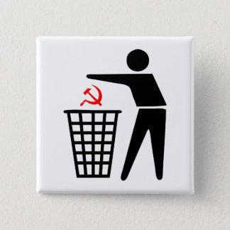 屑の共産主義ボタン 5.1CM 正方形バッジ