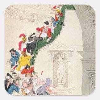 展覧会の凝視の例、c.1800 スクエアシール