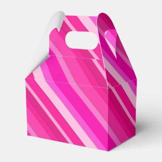 層にされたキャンデーのストライブ柄-ピンクおよび明るい赤紫色 フェイバーボックス
