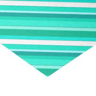 層にされたキャンデーは-ターコイズおよび白縞で飾ります 薄葉紙