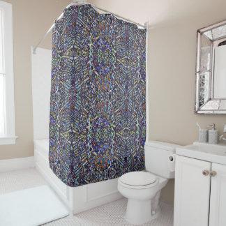 層にされたパターン シャワーカーテン