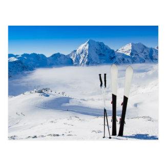 山およびスキー装置 ポストカード