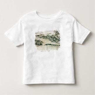 山および川の景色 トドラーTシャツ