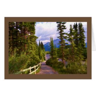 山および木は挨拶状を消します グリーティングカード